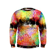 Colorful Tree Landscape Boys  Sweatshirts