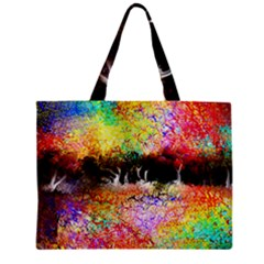 Colorful Tree Landscape Zipper Tiny Tote Bags