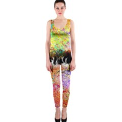 Colorful Tree Landscape Onepiece Catsuits