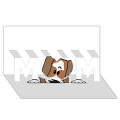 Peeping Shih Tzu MOM 3D Greeting Card (8x4)