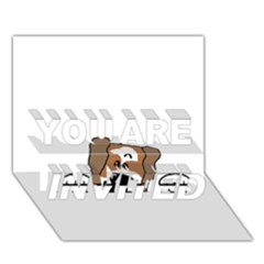 Peeping Shih Tzu YOU ARE INVITED 3D Greeting Card (7x5)