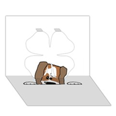Peeping Shih Tzu Clover 3D Greeting Card (7x5)