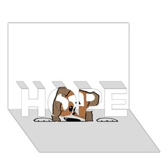 Peeping Shih Tzu HOPE 3D Greeting Card (7x5)