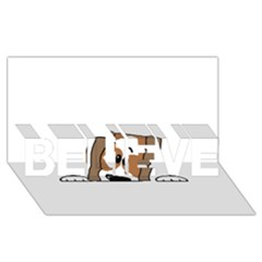 Peeping Shih Tzu BELIEVE 3D Greeting Card (8x4)