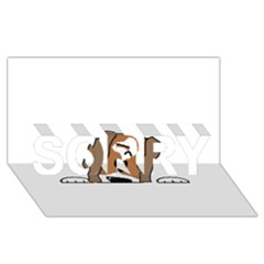 Peeping Shih Tzu SORRY 3D Greeting Card (8x4)