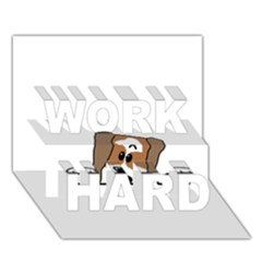 Peeping Shih Tzu WORK HARD 3D Greeting Card (7x5)