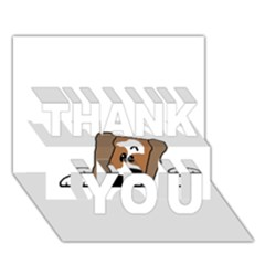 Peeping Shih Tzu THANK YOU 3D Greeting Card (7x5)