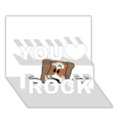 Peeping Shih Tzu You Rock 3D Greeting Card (7x5)