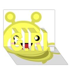 Kawaii Bee GIRL 3D Greeting Card (7x5)