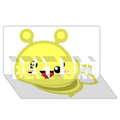 Kawaii Bee Best Bro 3d Greeting Card (8x4)