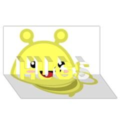 Kawaii Bee Hugs 3d Greeting Card (8x4)