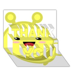 Kawaii Bee THANK YOU 3D Greeting Card (7x5)