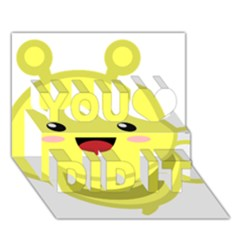 Kawaii Bee You Did It 3D Greeting Card (7x5)