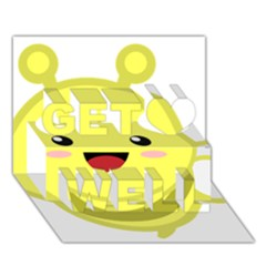 Kawaii Bee Get Well 3D Greeting Card (7x5)
