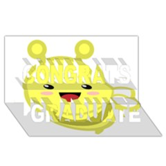 Kawaii Bee Congrats Graduate 3d Greeting Card (8x4)