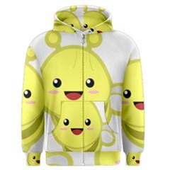 Kawaii Bee Men s Zipper Hoodies