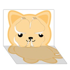 Kawaii Cat Clover 3D Greeting Card (7x5)