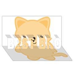 Kawaii Cat BEST BRO 3D Greeting Card (8x4)