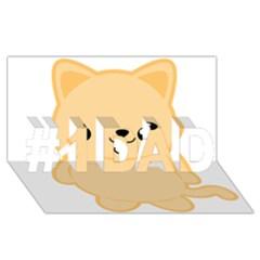 Kawaii Cat #1 Dad 3d Greeting Card (8x4)