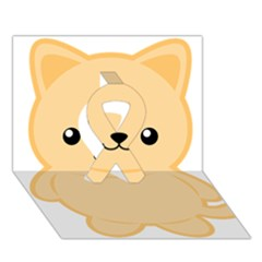 Kawaii Cat Ribbon 3D Greeting Card (7x5)