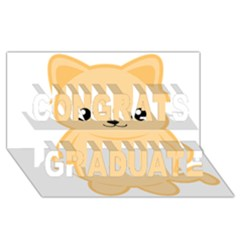 Kawaii Cat Congrats Graduate 3d Greeting Card (8x4)