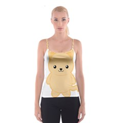 Kawaii Cat Spaghetti Strap Tops