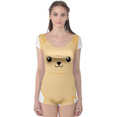 Kawaii Cat Short Sleeve Leotard