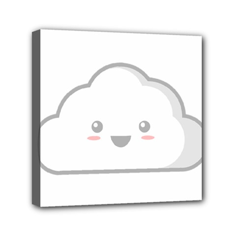 Kawaii Cloud Mini Canvas 6  x 6