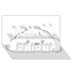 Kawaii Cloud Best Friends 3D Greeting Card (8x4)