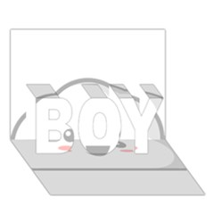 Kawaii Cloud BOY 3D Greeting Card (7x5)