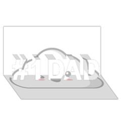 Kawaii Cloud #1 DAD 3D Greeting Card (8x4)