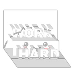 Kawaii Cloud WORK HARD 3D Greeting Card (7x5)