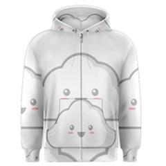 Kawaii Cloud Men s Zipper Hoodies
