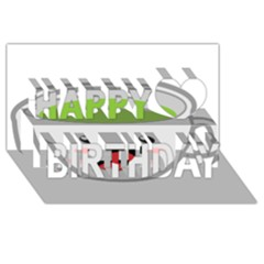 Kawaii Cup Happy Birthday 3D Greeting Card (8x4)