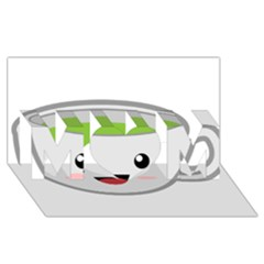 Kawaii Cup MOM 3D Greeting Card (8x4)