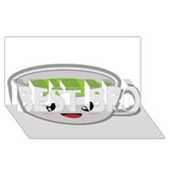 Kawaii Cup BEST BRO 3D Greeting Card (8x4)