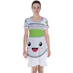 Kawaii Cup Short Sleeve Nightdresses