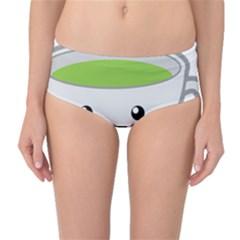 Kawaii Cup Mid Waist Bikini Bottoms