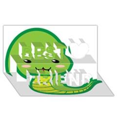 Kawaii Snake Best Friends 3D Greeting Card (8x4)