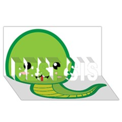 Kawaii Snake Best Sis 3d Greeting Card (8x4)