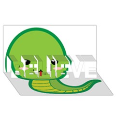 Kawaii Snake BELIEVE 3D Greeting Card (8x4)
