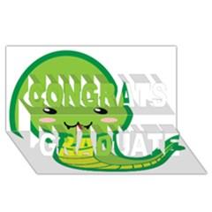 Kawaii Snake Congrats Graduate 3D Greeting Card (8x4)