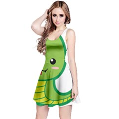 Kawaii Snake Reversible Sleeveless Dresses