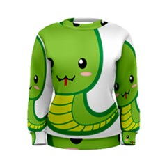 Kawaii Snake Women s Sweatshirts