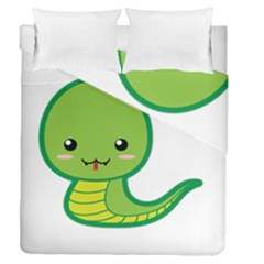 Kawaii Snake Duvet Cover (full/queen Size)