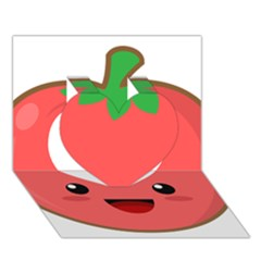 Kawaii Tomato Heart 3d Greeting Card (7x5)