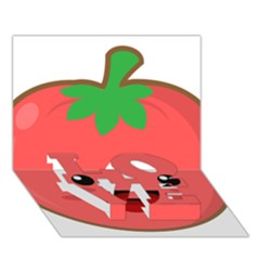 Kawaii Tomato LOVE Bottom 3D Greeting Card (7x5)