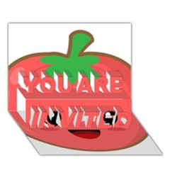 Kawaii Tomato You Are Invited 3d Greeting Card (7x5)