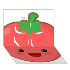 Kawaii Tomato Clover 3D Greeting Card (7x5)