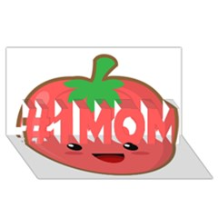 Kawaii Tomato #1 Mom 3d Greeting Cards (8x4)